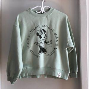NWT Zara x Minnie Mouse crewneck sweater